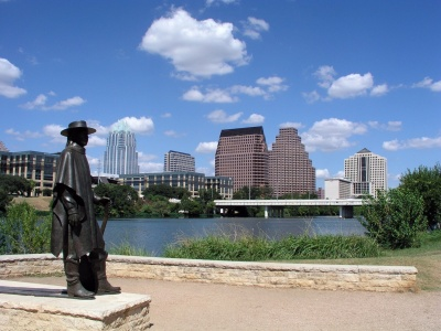 austin skyline and jobs growing