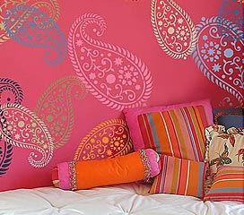 How to Paint Wall Stencils