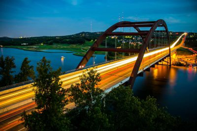 Pennybacker loop 360 Bridge at night
