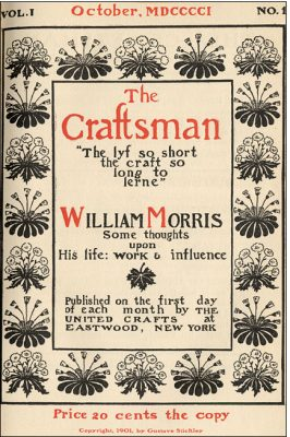 First issue of The Craftsman