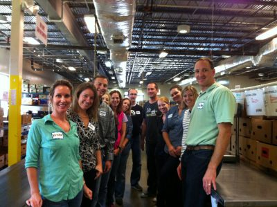 The Regent team volunteering at the Capital Area Food Bank