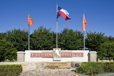 Falcon Pointe's Entry Sign