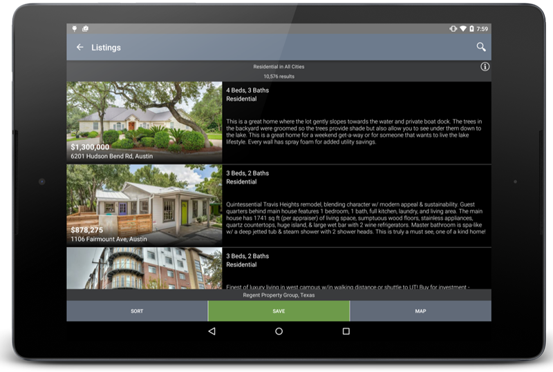 Austin real estate android app